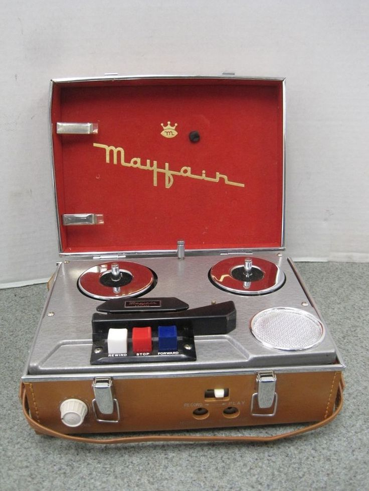 Vintage Mayfair Reel to Reel Portable Tape Player Recorder FT-305 Made in Japan #Mayfair