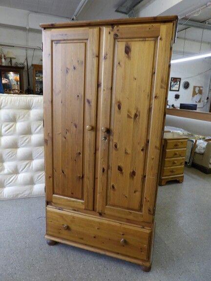Ducal Pine Wardrobe GC----------------------- Matching Bedroom Furniture Available £175 (PC475)