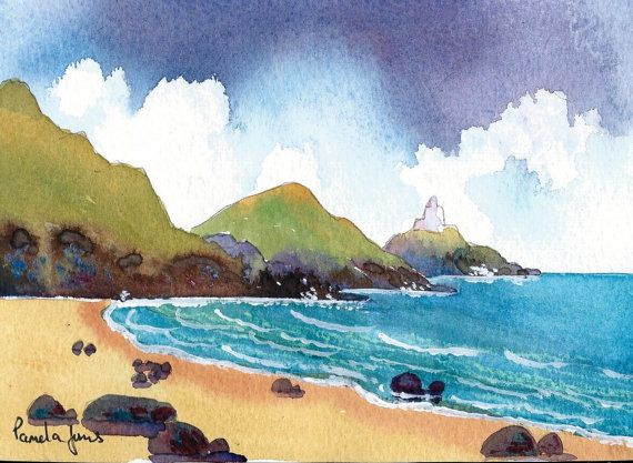 Original Watercolour..... Mumbles by Pamelajonesartstudio on Etsy, £20.00