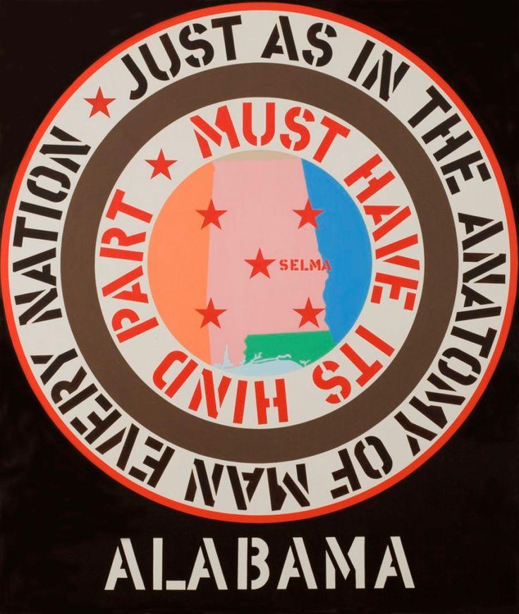 """Robert Indiana's  """"The Confederacy: Alabama"""" 1965"""