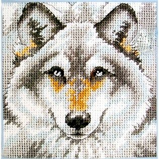 "Dimensions ""Call Of The Wolf"" Counted Cross Stitch Kit 