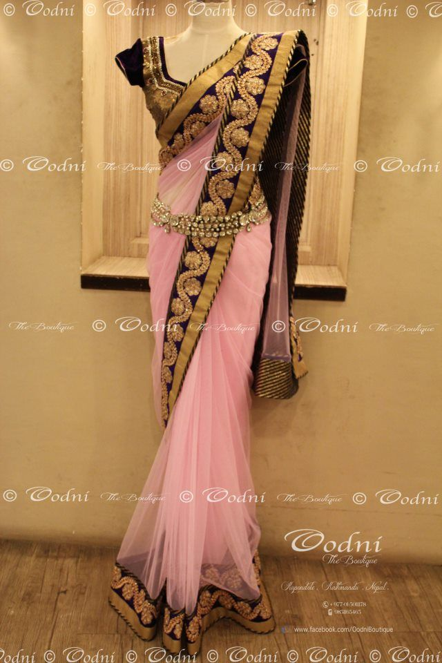 sari..!!! I love this. I think Eden would wear something like this for the spring festival.