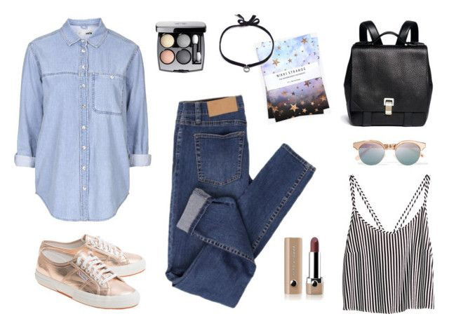 casual by alenaganzhela on Polyvore featuring мода, Topshop, H&M, Cheap Monday, Superga, Proenza Schouler, DANNIJO, Le Specs, Chanel and Marc Jacobs