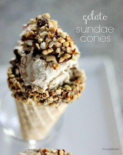 Hi Sugarplum | Gelato Sundae Cones by hi sugarplum!, via Flickr
