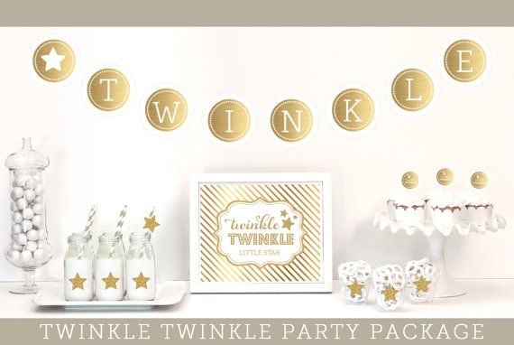 Twinkle Twinkle Baby Shower Decorations  Twinkle by ModParty