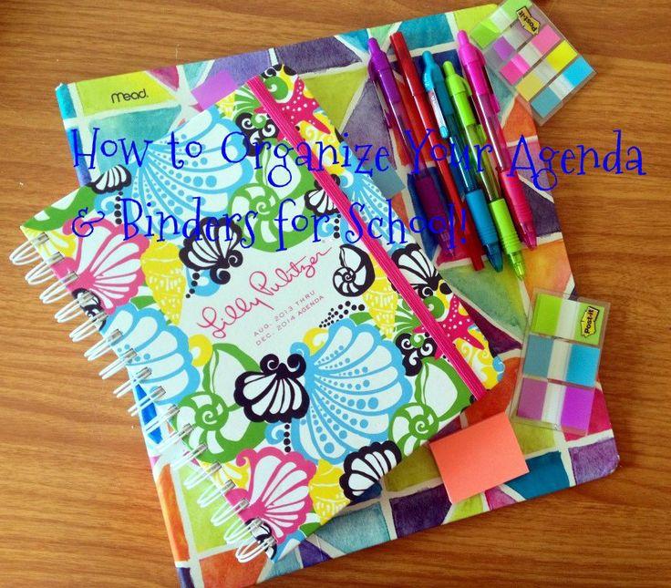 Agenda & Binder Organization Tips & Tricks