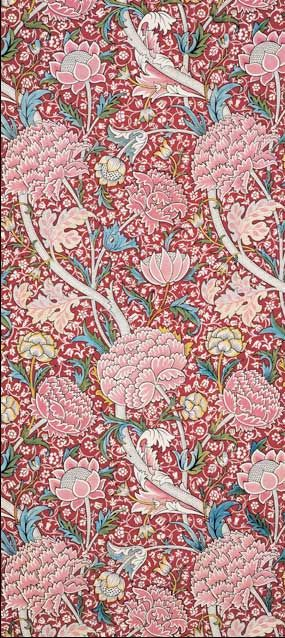 Cray printed cotton by William Morris