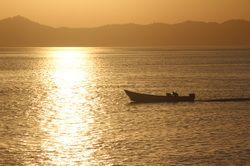 Atardecer en La Palma, Darién, Panamá. En el Golfo de San Miguel