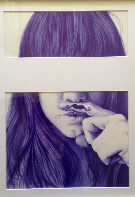 """Self portrait"" by Lucinda Neethling Bic pen on paper  #ballpoint #drawings www.whatlucyloves.co.za"