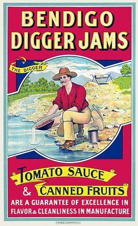 Bendigo Digger Jams, Australia c. 1890 http://www.vintagevenus.com.au/vintage/reprints/info/FD259.htm