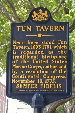 Tun Tavern, The Birthplace of the Marine Corps, November 10, 1775