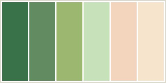 MC Ballroom color palette - emerald, mint, peach