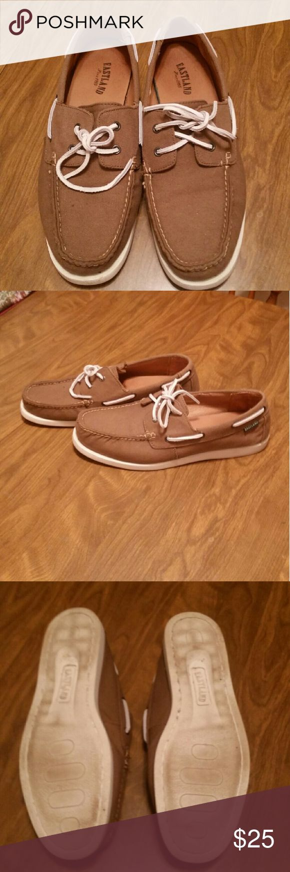 Mens Eastland shoes Great condition Eastland shoes, size 12. Worn minimally as shown on soles. Eastland Shoes Boat Shoes