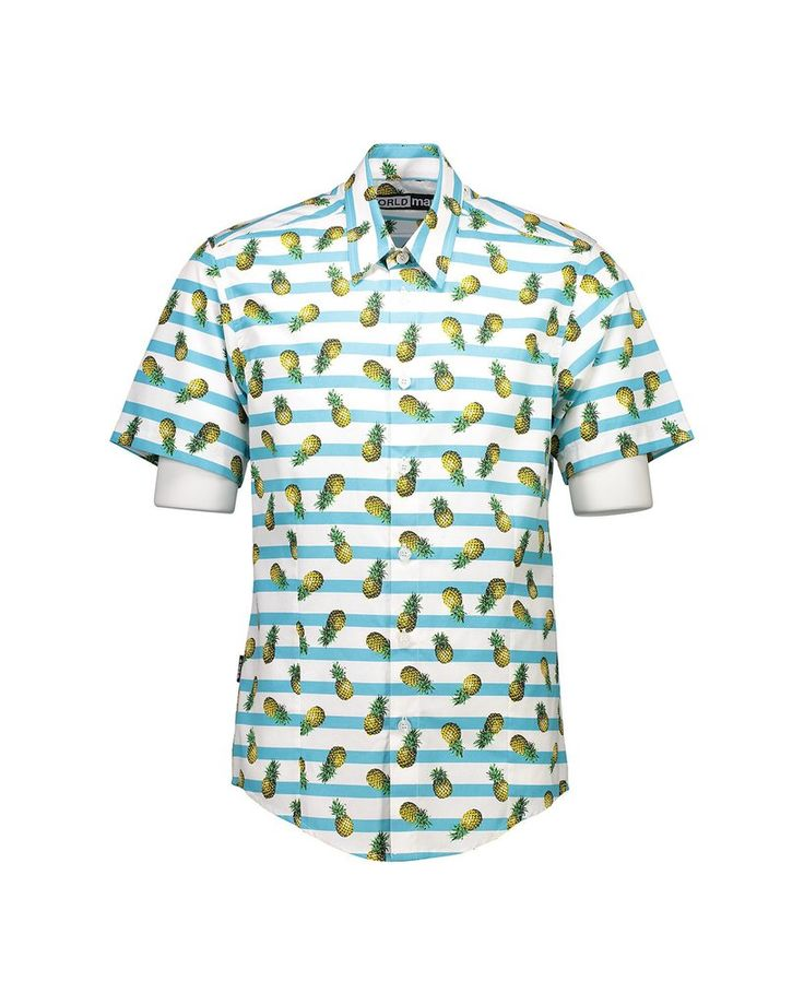 WORLDman 4049 Bandwagon Shirt Pineapples