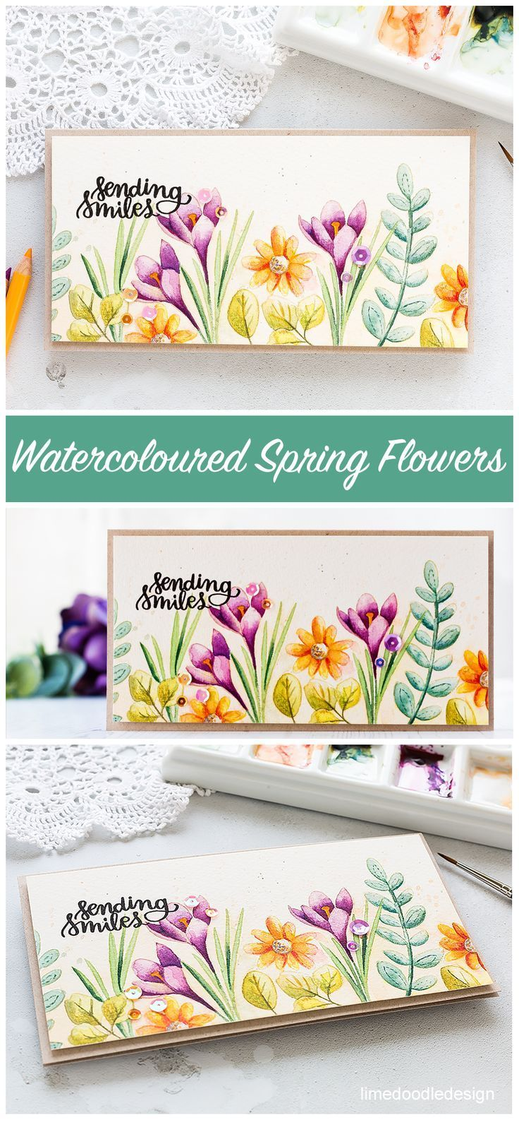 Video Spring Flowers Watercolour Flower Watercolor Spring