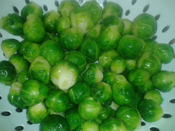 Blanching and freezing brussel sprouts