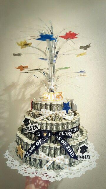 Diy Money Cake Gift It S For Nephew S Graduation Gift 3