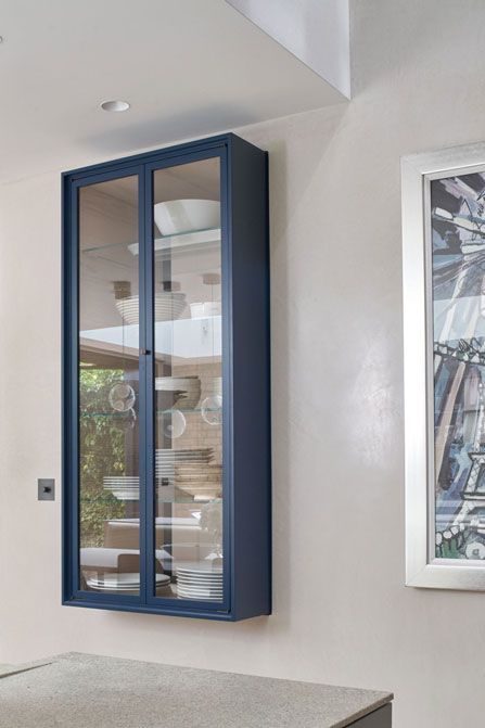 Bespoke Joinery designed by Robinson van Noort - Contemporary Residential Design, London - Barnes, London - Wall unit - Display cabinet - Glazing system