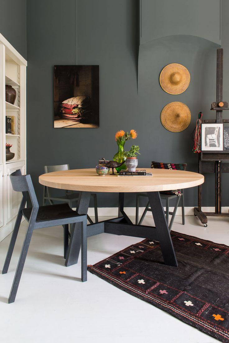 Meer dan 1000 ideeën over ronde tafels op pinterest   massief hout ...