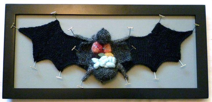 "Emily Stoneking, ""Knitted, dissected bat specimen"""