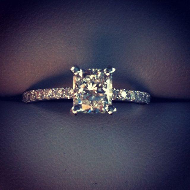 1-carat radiant cut diamond ring- my stunning engagement ring!!!