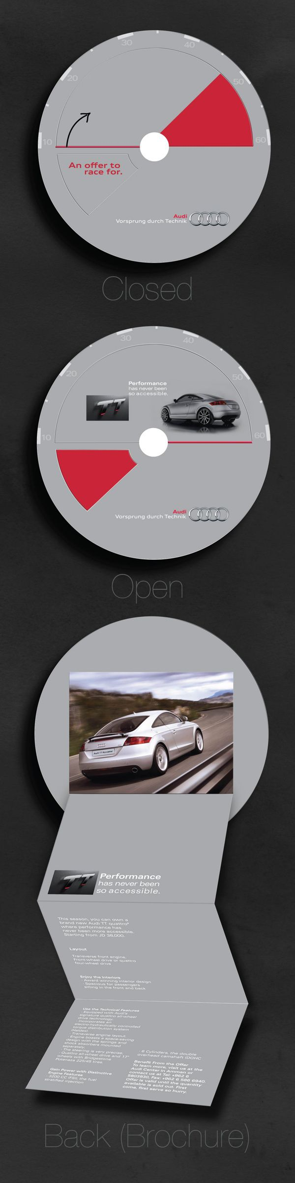 Audi TT Direct Mailer by Laila Loubani, via Behance