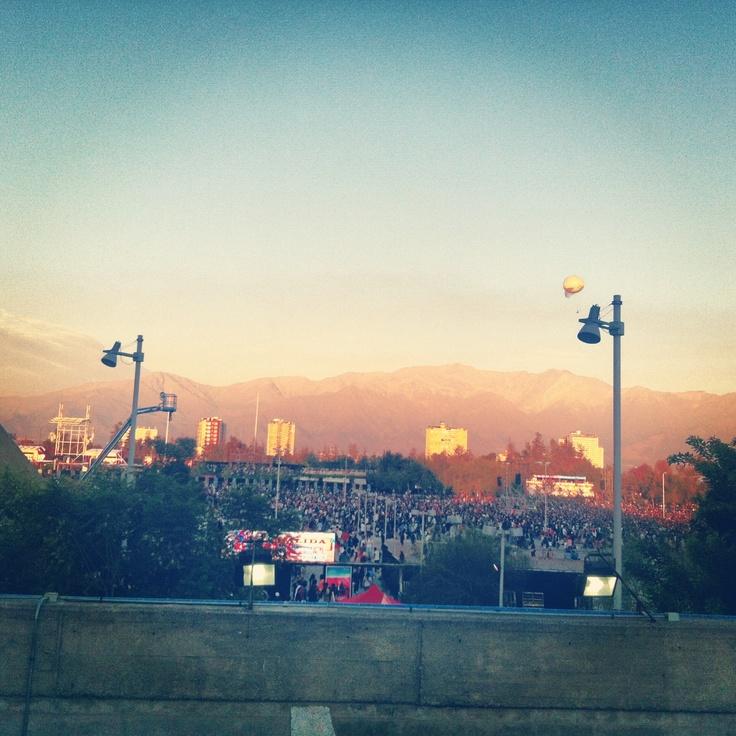 Vista movistar arena - Parque O'higgins y Movistar Arena 6 y 7 de Abril 2013, Santiago de Chile.