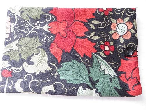 William Morris  Tablet cover, Black and Red.