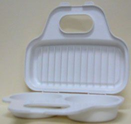 Progressive International Microwavable Egg Poacher by Progressive. $6.63. Inside lid can be used to reheat breakfast meals. Poach 2 eggs at once using this microwavable egg poacher. Dishwasher safe. Progressive International® is your source for the widest range of functional, inventive, and fun kitchen tools and great ideas put into practice. Our in-house designers spend hours in the kitchen coming up with ways to improve on a variety of traditional tasks and tools. Establish...