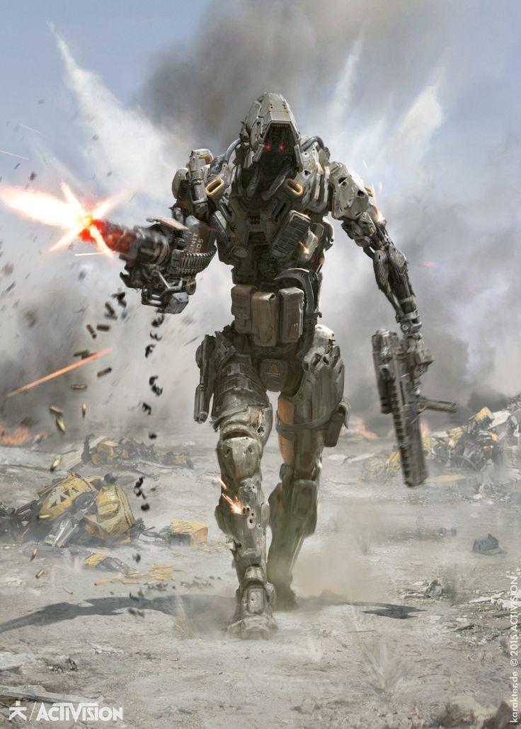 ArtStation - Black Ops III - Reaper, karakter design studio - This could be a good starting point for some sort of combat drone.