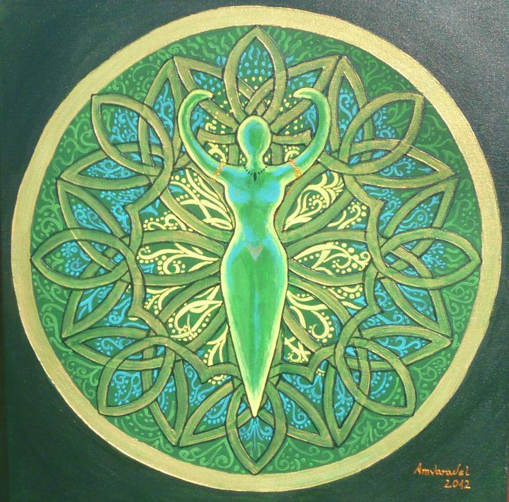 Mandala de Diosa Verde por  Amvaradel