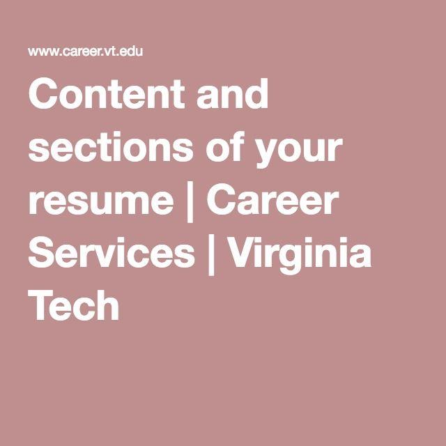 43 best Business - Design images on Pinterest Branding design - virginia tech resume