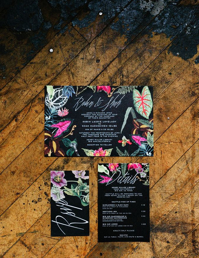 Love this vibrant and colorful floral invitation. http://www.benjhaisch.com/blog/robin-shah/