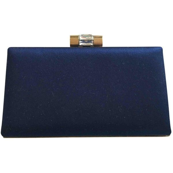 Pre-owned Yves Saint Laurent Cloth Pochette (1,465 SAR) ❤ liked on Polyvore featuring bags, handbags, clutches, blue, women bags clutch bags, preowned handbags, pre owned handbags, pre owned purses, yves saint laurent purse and blue handbags