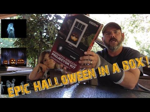 (1) Halloween Window FX Animated Window Projector Kit from Home Depot - YouTube