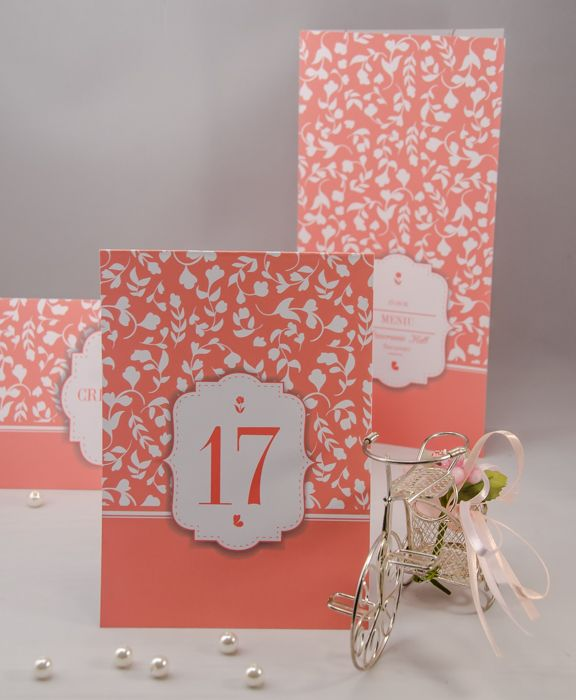 Wedding table number - corai!