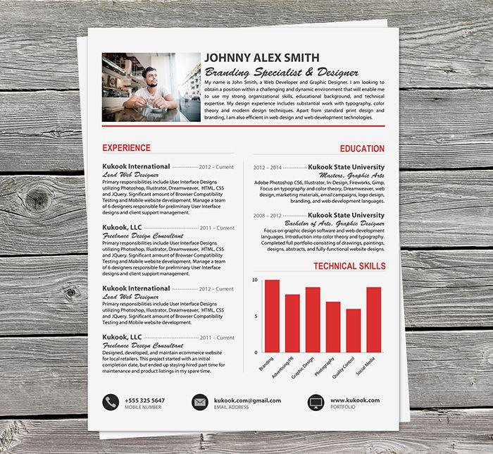 8 Best Professional Resume Templates Word Editable Images On Pinterest