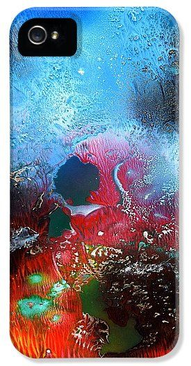 World Of Reefs IPhone 5 / 5s Case Printed with Fine Art spray painting image World Of Reefs by Nandor Molnar (When you visit the Shop, change the orientation, background color and image size as you wish)