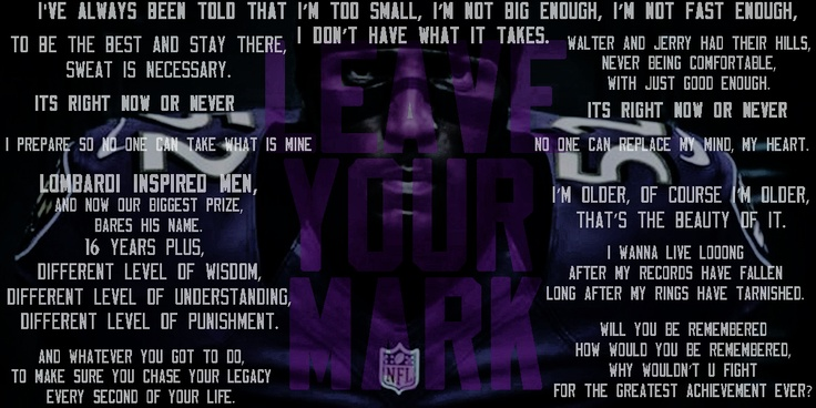 Inspiring Football Quotes Ray Lewis: Ray Lewis - Madden 13 Intro Speech