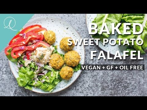 BAKED SWEET POTATO FALAFEL | Vegan + Gluten Free + Oil Free - Lauren Caris Cooks