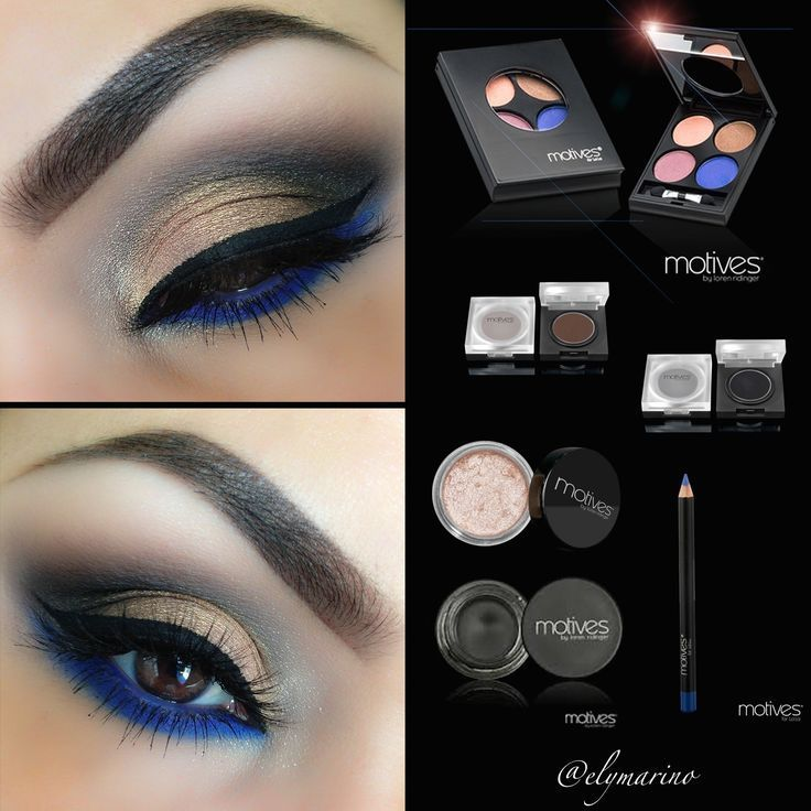 Makeup for navy blue dress