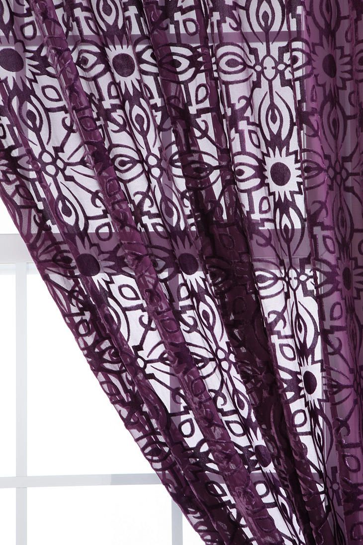 Maybe these purple-black sheers will match my new sheets?