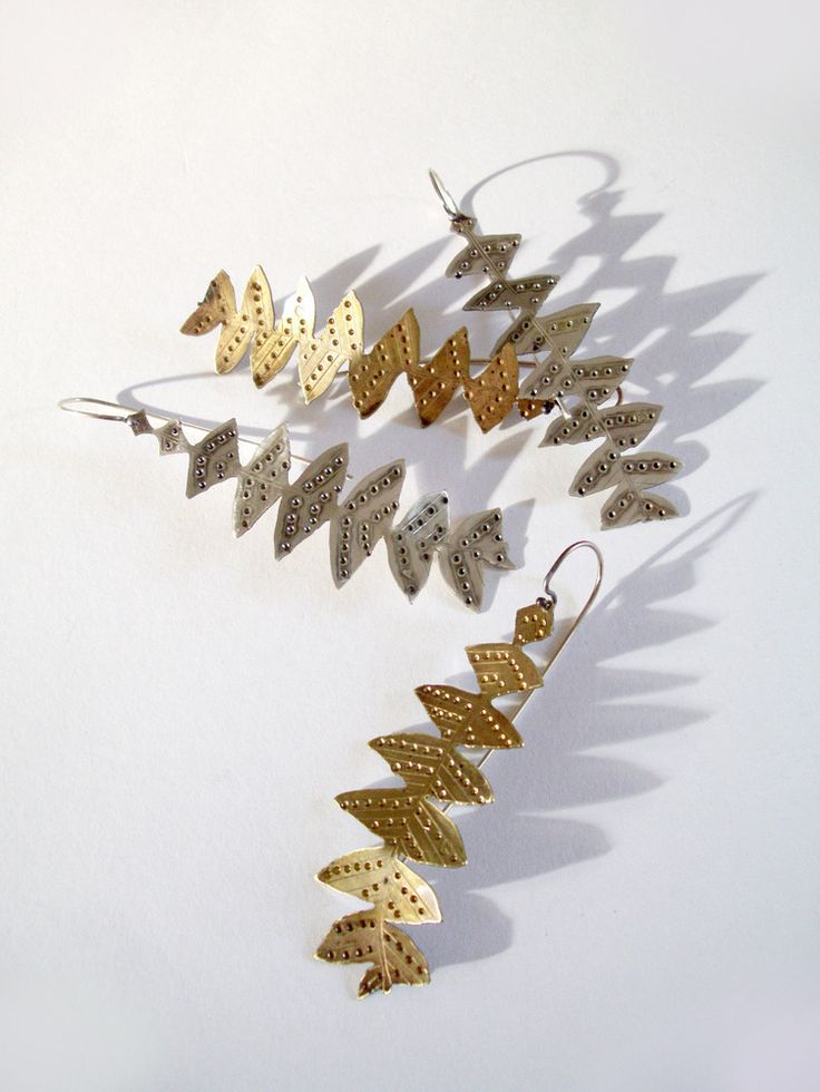 LEAF EARRINGS: BANKSIA GRANDIS Sterling Silver & Brass. By Jessica Jubb