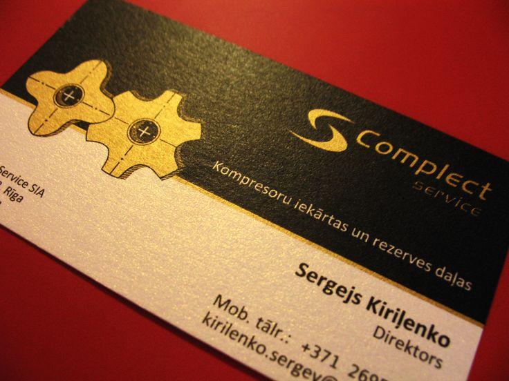 Business card for technical maintenance / Vizītkarte tehniskajam servisam / Визитка для технического сервиса