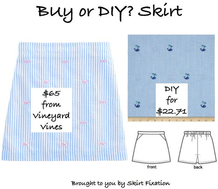 Girls' Seersucker skirt DIY for less than retail price!