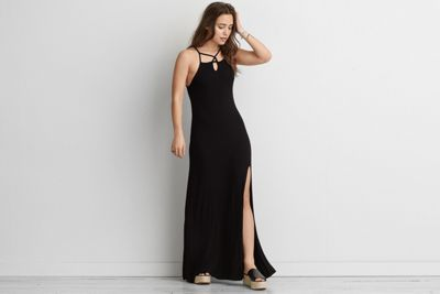 AEO Keyhole Maxi Dress by  American Eagle Outfitters | Long live. An endless silhouette for true style that goes on.  Shop the AEO Keyhole Maxi Dress and check out more at AE.com.