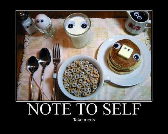 LMBO!!!!: Funny Breakfast, Funny Pictures, Food, Demotivational Posters, Googly Eye, Funny Stuff, Note To Self, Christopher Walken, Cereal