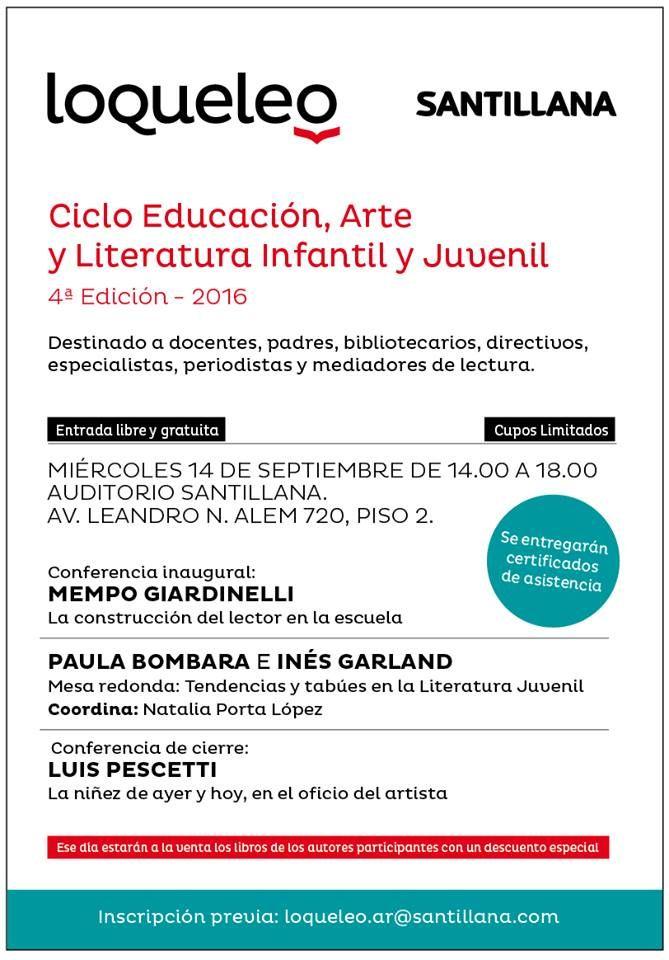 Ciclo de Educación, Arte y Literatura Infantil y Juvenil | LITERARIAS | Por Gabriela Mariel Arias