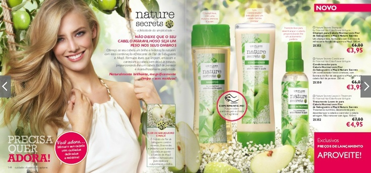 Para um cabelo saudável e com aspecto delicioso, a Oriflame recomenda o seu novo Nature Secrets de Flor de Sabugueiro e Maçã para Cabelos Normais. Já experimentou? Fale comigo! :) | For a healthy and delicious looking hair, Oriflame recommends its very new Nature Secrets Shampoo with Eldertree Flower and Apple for Normal Hair. Did you already give it a go? Talk to me! :)