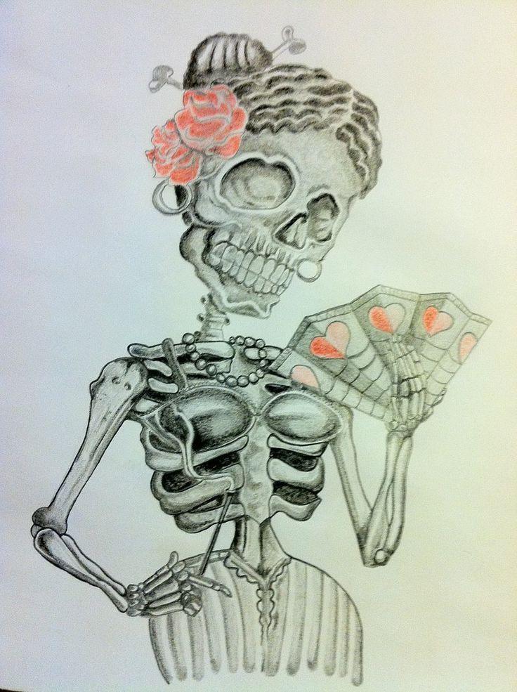 Mexican skeleton art